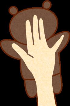ハンドパペット(説明図)
