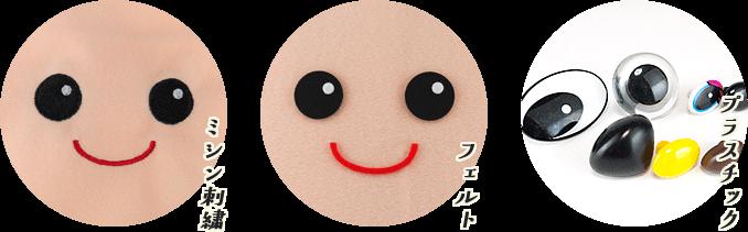 ミシン刺繍/フェルト/プラスチック(写真)